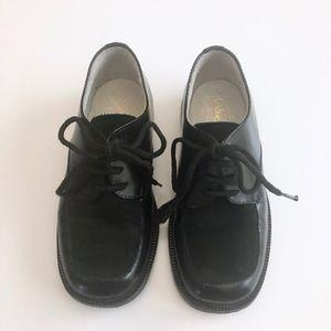 Boys Designer Black Leather & Suede Shoes 25/ 8.5